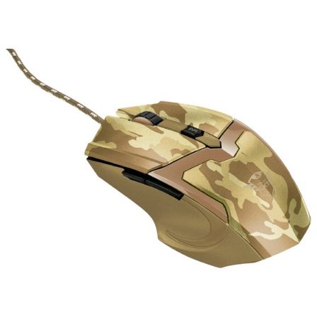 RATON GAMING TRUST GAMING GXT 101D GAV DESERT CAMO - 600-4800PPP - 6 BOTONES - CABLE TRENZADO 1.8M