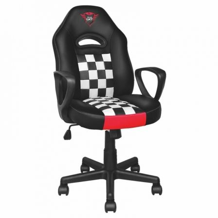 SILLA GAMER TRUST GAMING GXT 702 RYON JUNIOR - TAMANO MEDIANO - GIRATORIA 360 - CILINDRO GAS CLASE 3 - ASIENTO RECLINABLE - ARMA