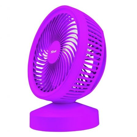 VENTILADOR USB TRUST VENTU PURPLE- 7 ASPAS - ALIMENTACION USB - ASA DE TRANSPORTE - INTERRUPTOR ON/OFF |