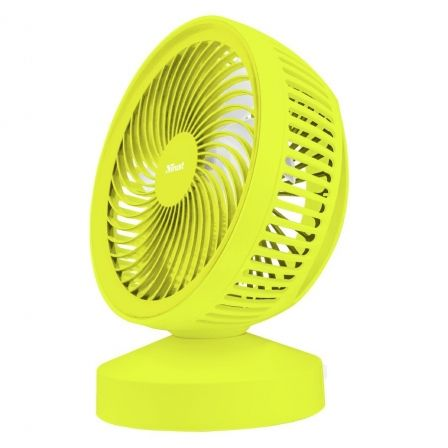 VENTILADOR USB TRUST VENTU YELLOW- 7 ASPAS - ALIMENTACION USB - ASA DE TRANSPORTE - INTERRUPTOR ON/OFF |