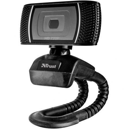 WEBCAM CON MICROFONO TRUST TRINO VIDEO HD 720P CON BOTON PARA FOTO 8 MGPX USB NEGRA 18679 | Camaras web - webcams