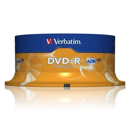DVD-R VERBATIM ADVANCED AZO 16X 4.7GB TARRINA 25 UNIDADES | Almacenamiento dvd