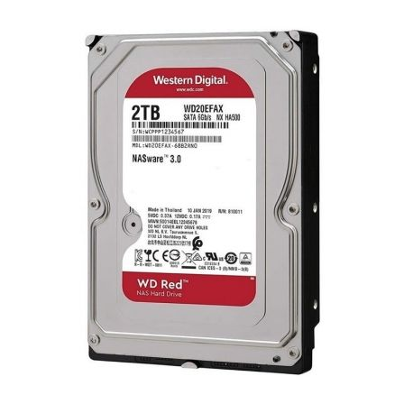 "DISCO DURO INTERNO WESTERN DIGITAL CAVIAR RED 2TB - SATA III - 3.5"" / 8.89CM  - 5400RPM"
