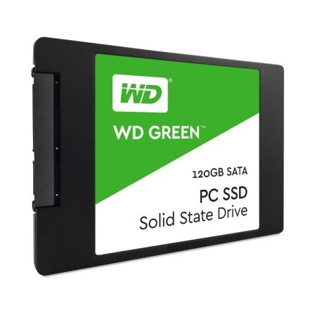 "DISCO SOLIDO WESTERN DIGITAL GREEN WDS120G2G0A - 120GB - SATA 3 - 2.5""/6.35CM - 7MM - LECTURA HASTA 545MB/S 