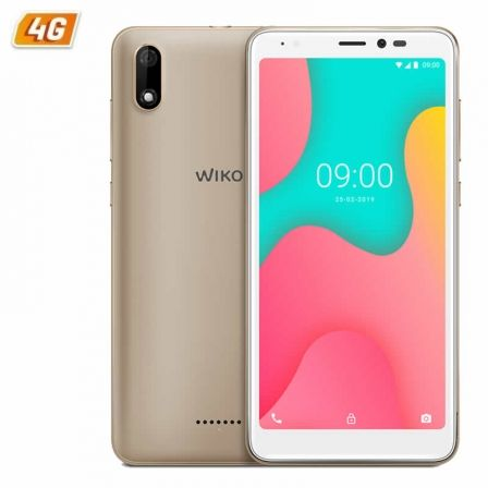 "SMARTPHONE MOVIL WIKO Y60 GOLD - 5.45""/13.8CM FWVGA+ - QC 1.3GHZ CORTEX A53 - 1GB - 16GB - CAMARA 5/5MP - 4G - ANDROID 9 - BT - 