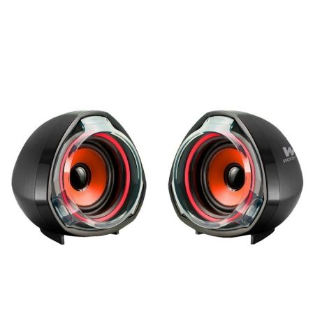 ALTAVOCES 2.0 WOXTER BIG BASS 70 RED - 15W - JACK 3.5MM - ALIMENTACION USB |