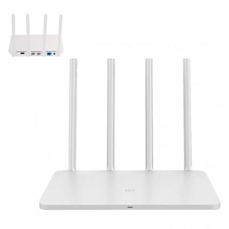 ROUTER INALAMBRICO XIAOMI MI ROUTER 3 - 802.11N/G/B - 300MBPS - 4 ANTENAS - 1*USB 2.0 - 2*LAN 10/100MBPS - 1*WAN 10/100MBPS - BL | Router wifi