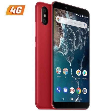 "SMARTPHONE MOVIL XIAOMI MI A2 RED - 5.99""/15.2CM - SNAPDRAGON 660 AIE - 4GB RAM - 64GB - CAM (20+12)/20MP - 4G - DUAL SIM - BAT 