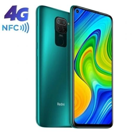 "SMARTPHONE MOVIL XIAOMI REDMI NOTE 9 FOREST GREEN - 6.53""/16.5CM - MTK HELIO G85 - 3GB RAM - 64GB - CAM (48+8+2+2)/13 MP - 4G - 