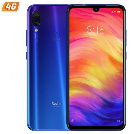 "SMARTPHONE MOVIL XIAOMI REDMI NOTE 7 BLUE - 6.3""/16CM - OC 1.95GHZ - 4GB RAM - 64GB - CAM 48+5/13 MP - 4G - DUAL SIM - BAT 4000M 
