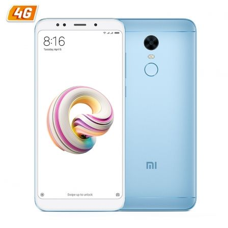 "SMARTPHONE MOVIL XIAOMI REDMI 5 PLUS LIGHT BLUE - 5.99""/15.2CM FHD - OC 1.8GHZ - 3GB RAM - 32GB - CAM 12/5MP - 4G - DUAL SIM - B 