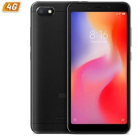 "SMARTPHONE MOVIL XIAOMI REDMI 6A BLACK - 5.45""/13.8CM - QC 2GHZ - 2GB RAM - 16GB - CAM 13/5MP - 4G - DUAL SIM - BAT 3000MAH - AN 