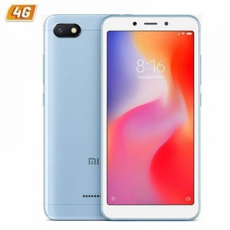 "SMARTPHONE MOVIL XIAOMI REDMI 6A BLUE - 5.45""/13.8CM - QC 2GHZ - 2GB RAM - 16GB - CAM 13/5MP - 4G - DUAL SIM - BAT 3000MAH - AND 