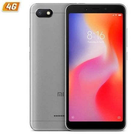 "SMARTPHONE MOVIL XIAOMI REDMI 6A GREY - 5.45""/13.8CM - QC 2GHZ - 2GB RAM - 16GB - CAM 13/5MP - 4G - DUAL SIM - BAT 3000MAH - AND 