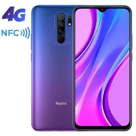 "SMARTPHONE MOVIL XIAOMI REDMI 9 SUNSET PURPLE - 6.53""/16.59CM - MTK HELIO G80 - 3GB RAM - 32GB - CAM (13+8+5+2)/8MP - 4G - DUAL 