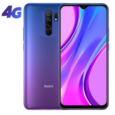 "SMARTPHONE MOVIL XIAOMI REDMI 9 SUNSET PURPLE - 6.53""/16.59CM - MTK HELIO G80 - 4GB RAM - 64GB - CAM (13+8+5+2)/8MP - 4G - DUAL 
