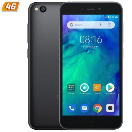 "SMARTPHONE MOVIL XIAOMI REDMI GO BLACK - 5""/12.7CM - QC 1.4GHZ - 1GB RAM - 16GB - CAM 5/8 MP - 4G - DUAL SIM - BAT 3000MAH 