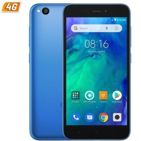 "SMARTPHONE MOVIL XIAOMI REDMI GO BLUE - 5""/12.7CM - QC 1.4GHZ - 1GB RAM - 16GB - CAM 5/8 MP - 4G - DUAL SIM - BAT 3000MAH 