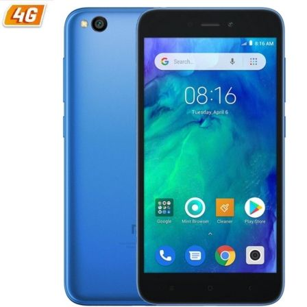 "SMARTPHONE MOVIL XIAOMI REDMI GO BLUE - 5""/12.7CM - QC 1.4GHZ - 1GB RAM - 8GB - CAM 5/8 MP - 4G - DUAL SIM - BAT 3000MAH"