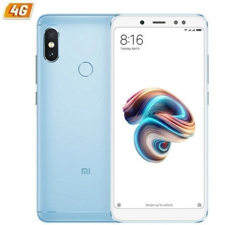 "SMARTPHONE MOVIL XIAOMI REDMI NOTE 5 BLUE - 5.99""/15.2CM - OC SNAPDRAGON 636 - 3GB RAM - 32GB - CAM (12+5)/13MP - 4G - DUAL SIM 